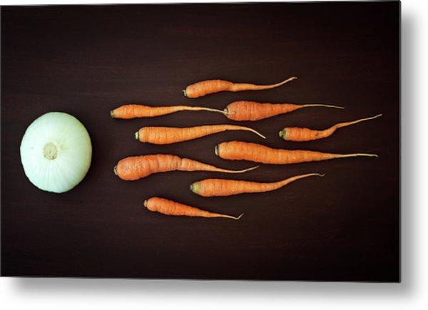 Vegetable Reproduction Metal Print