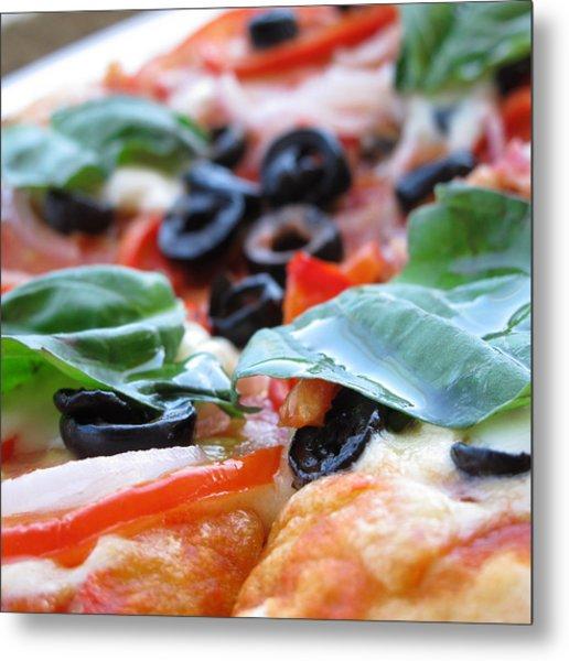 Vegetarian Pizza Metal Print by Keith May