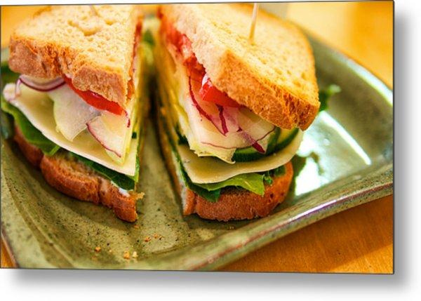 Veggie Sandwich Metal Print
