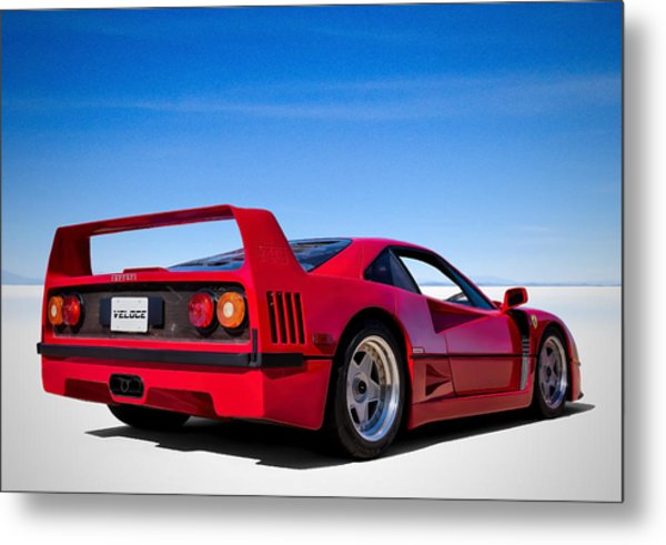 Veloce Equals Speed Metal Print