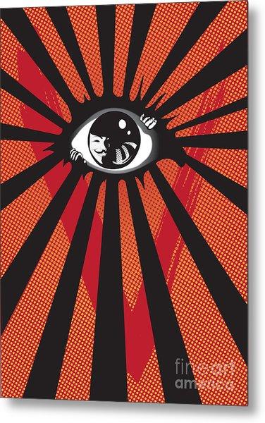 Vendetta2 Eyeball Metal Print