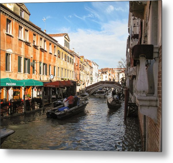 Metal Print featuring the photograph Venetian Canal by Joe Winkler