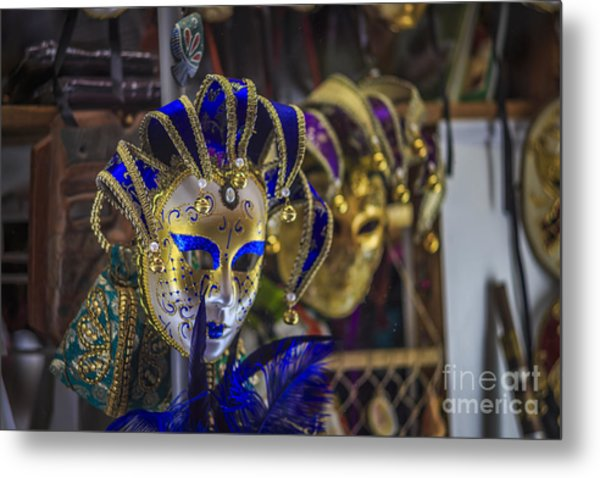 Venetian Carnival Masks Cadiz Spain Metal Print