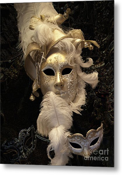 Venetian Face Mask B Metal Print