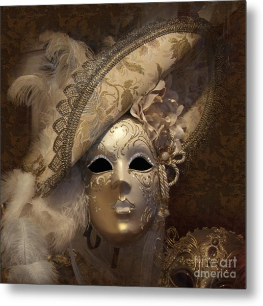 Venetian Face Mask F Metal Print