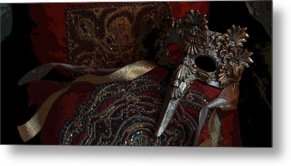After The Carnival - Venetian Mask Metal Print