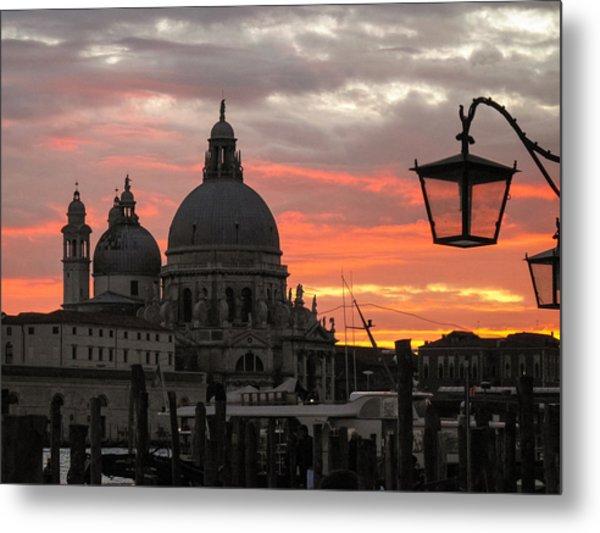 Metal Print featuring the photograph Venetian Sunset by Joe Winkler