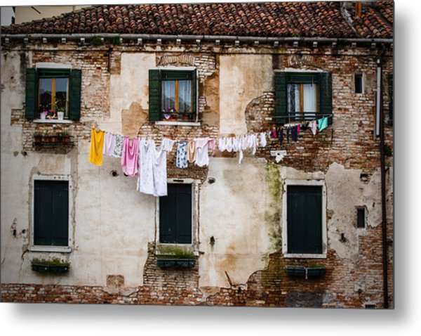 Venetian Washing Metal Print