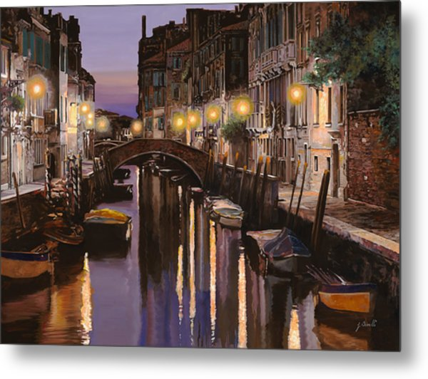 Venezia Al Crepuscolo Metal Print