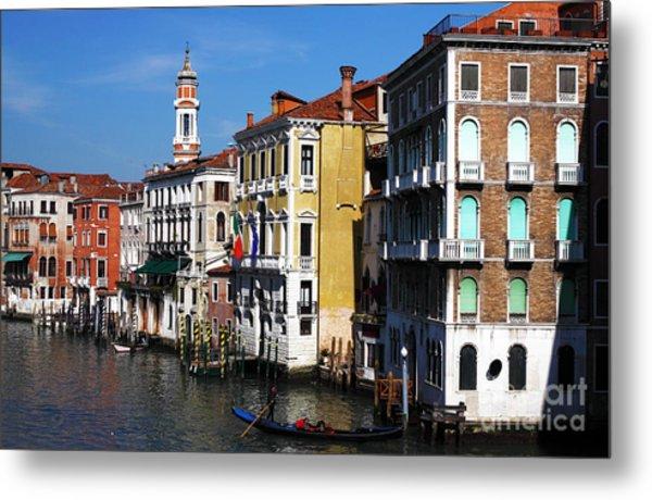 Venezia Colors Metal Print by John Rizzuto