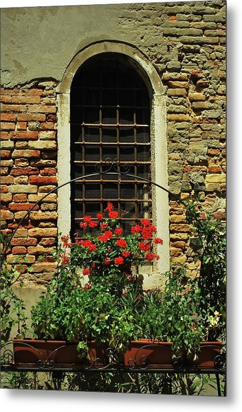 Venice Antique Window Metal Print