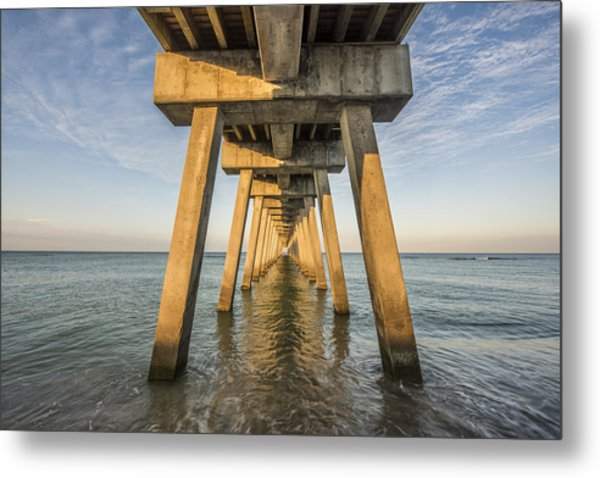 Venice Below The Pier Metal Print