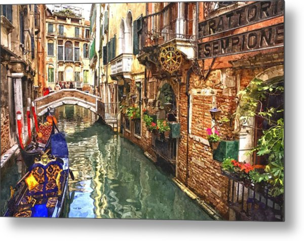 Venice Canal Serenity Metal Print