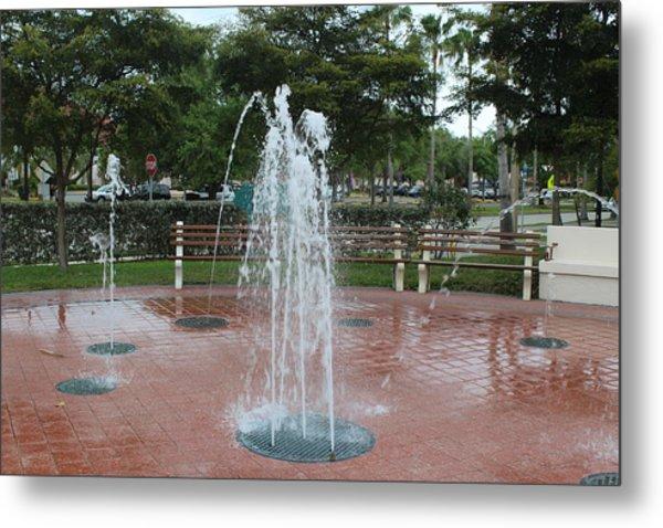 Venice Florida Fountain Metal Print