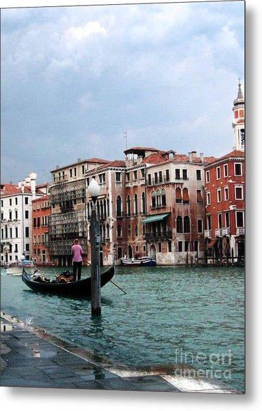 Venice Gondola Metal Print by Sandy MacNeil