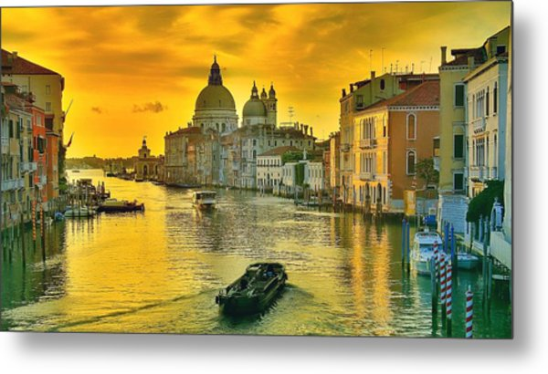 Golden Venice 3 Hdr - Italy Metal Print
