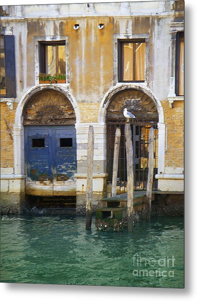 Venice Italy Double Boat Room Metal Print