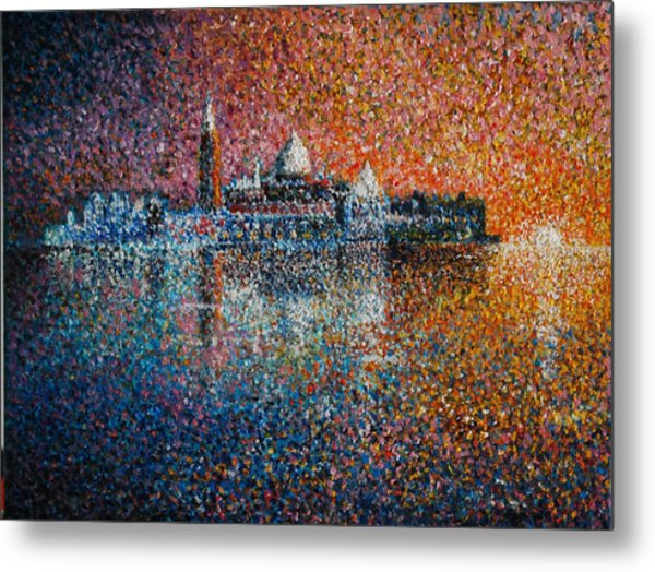 Venice Jewel Of The Adriatic Metal Print by Les Conroy