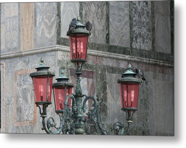 Venice Lights By Day Metal Print