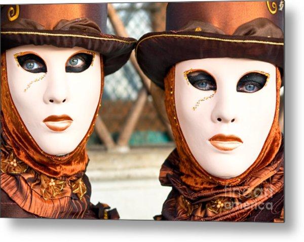 Venice Masks - Carnival. Metal Print