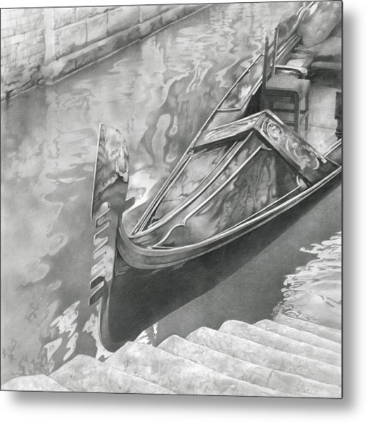 Metal Print featuring the drawing Venice Mmxii-i  by Denis Chernov