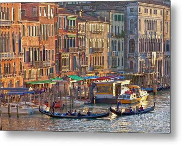 Venice Palazzi At Sundown Metal Print