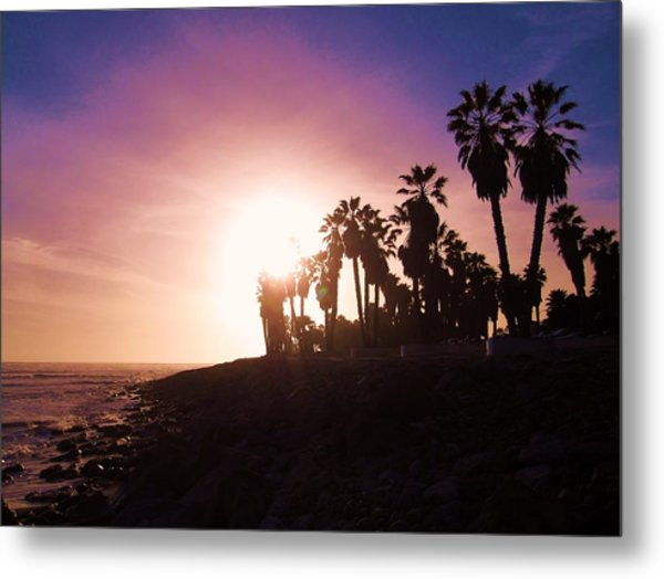 Ventura Beach Sunset Metal Print