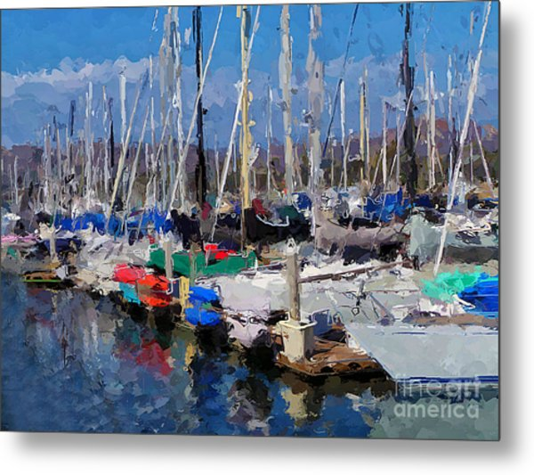 Ventura Harbor Village Metal Print