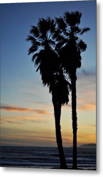 Ventura Palm Sunset Metal Print