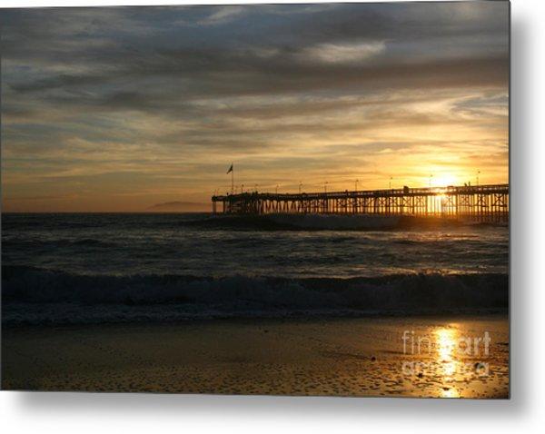 Ventura Pier 01-10-2010 Sunset  Metal Print