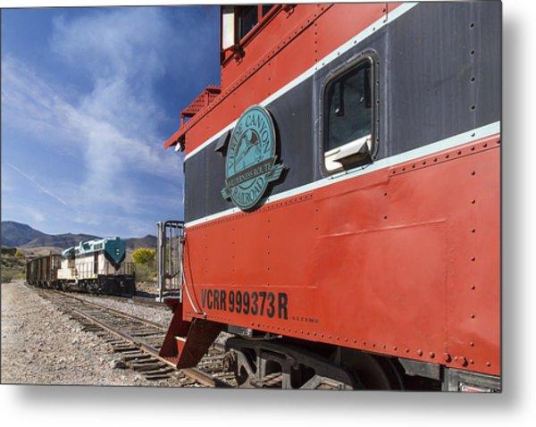 Verde Canyon Railway Caboose Metal Print