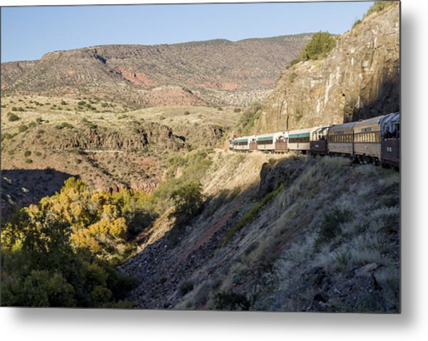 Verde Canyon Railway Landscape 2 Metal Print