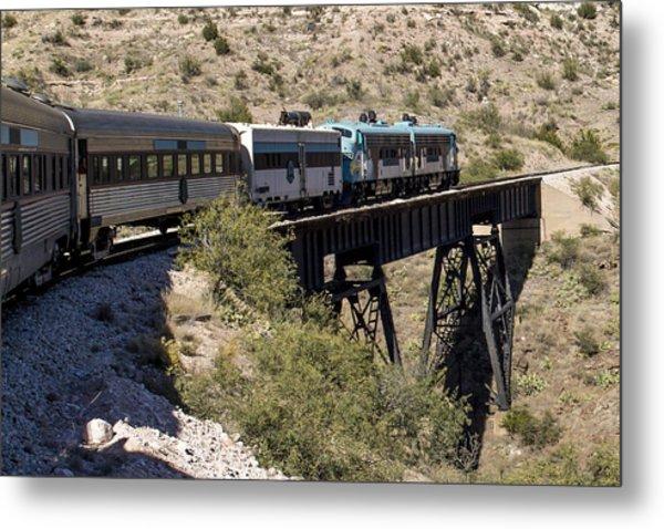 Verde Canyon Railway On Trestle Metal Print