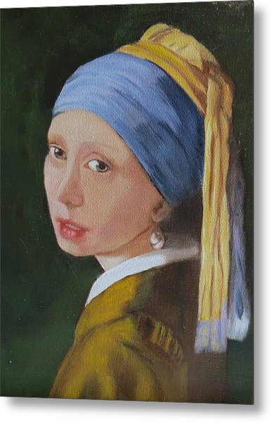 Vermeer Study Metal Print