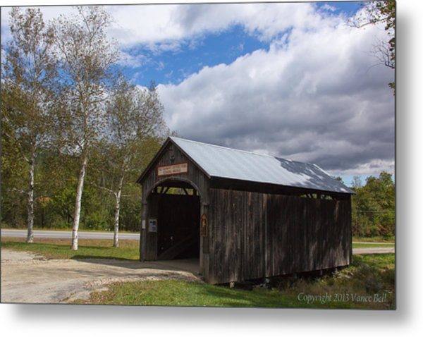 Vermont Country Store Covered Bridge Metal Print