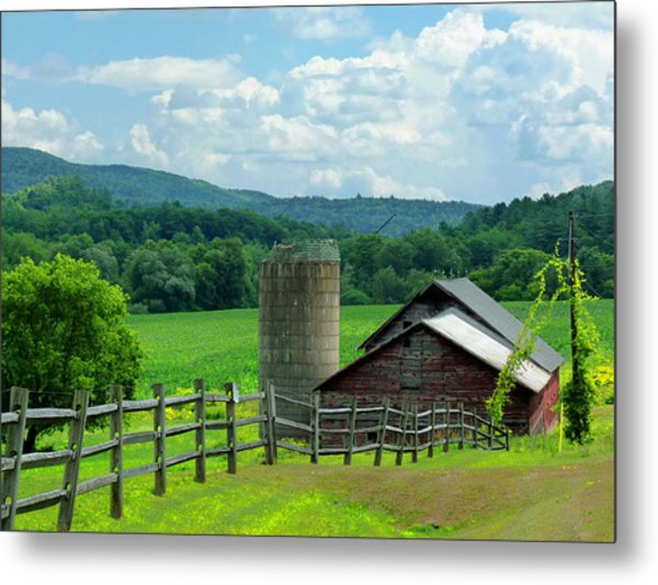 Vermont Welcome Metal Print by Elaine Franklin