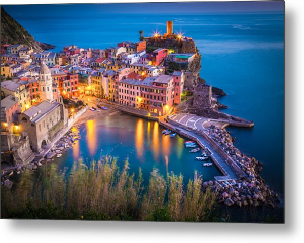 Vernazza Night Metal Print