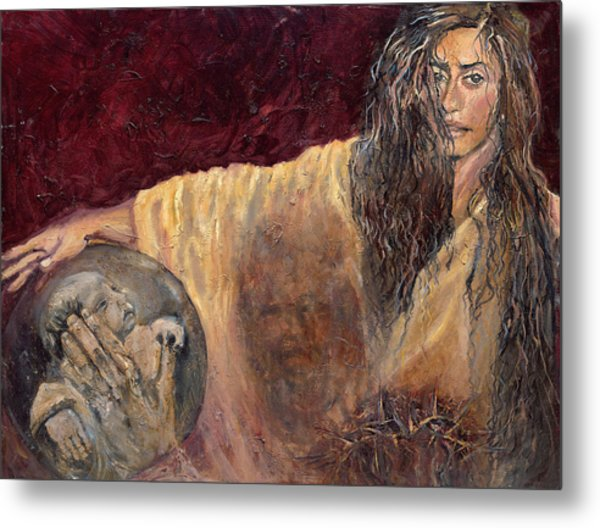 Veronica Wipes The Face Of Jesus Metal Print