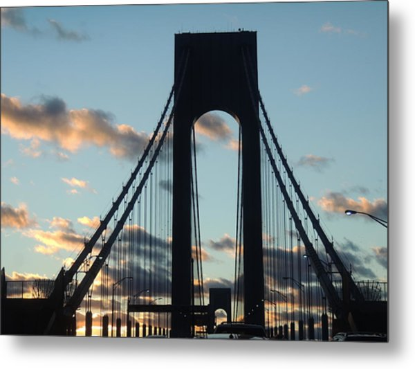 Verrazano Bridge Metal Print by Anastasia Konn