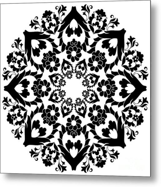 Versions Of Ottoman Decorative Arts Metal Print