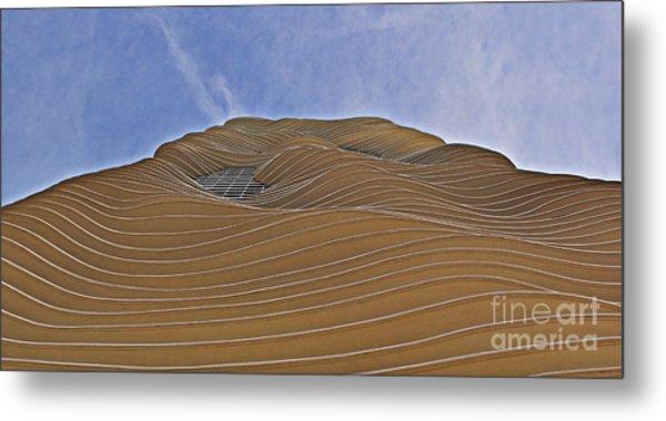 Vertical Dune - The Aqua Tower Metal Print