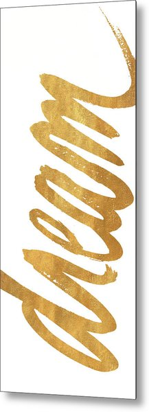 Vertical Gold Dream Metal Print