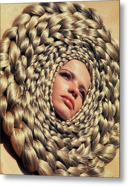 Veruschka Von Lehndorff's Head Surrounded Metal Print