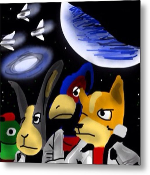 Very Late Entry #monkeysidebars #scifi Metal Print