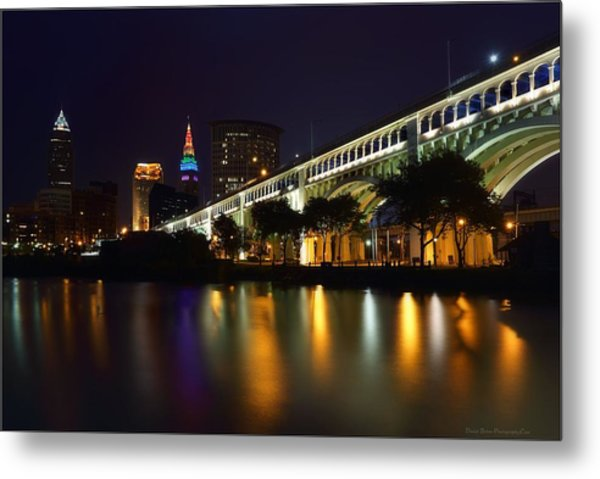 Veteran's Memorial Bridge Metal Print