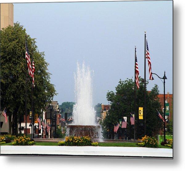 Veterans Memorial Fountain Belleville Illinois Metal Print