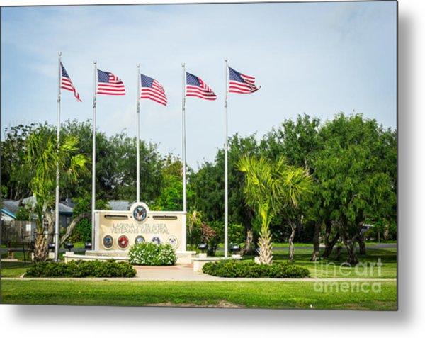 Veterans Memorial Laguna Vista Texas Metal Print