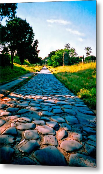 Metal Print featuring the photograph Via Appia Antica - Rome by Donna Proctor