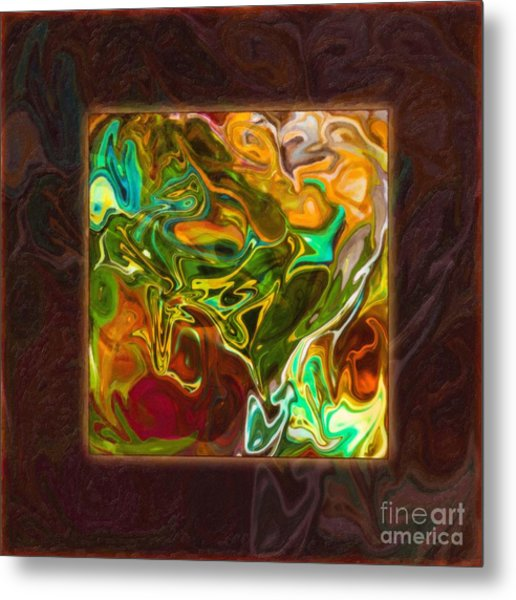 Vibrant Fall Colors An Abstract Painting Metal Print