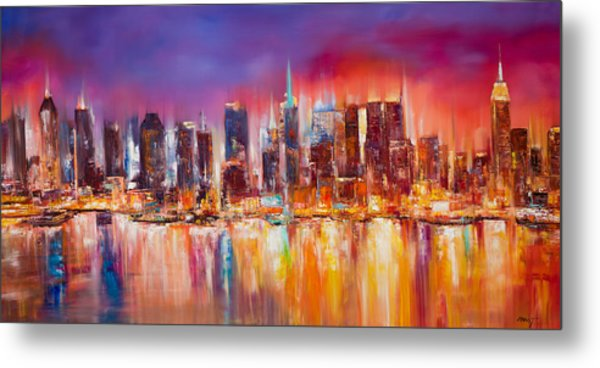 Vibrant New York City Skyline Metal Print